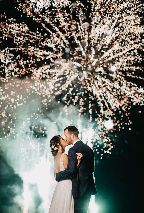 winter bruiloft vuurwerk fotograaf