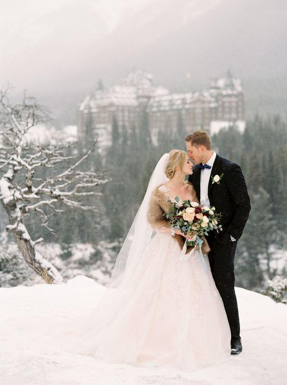 winter bruiloft kasteel