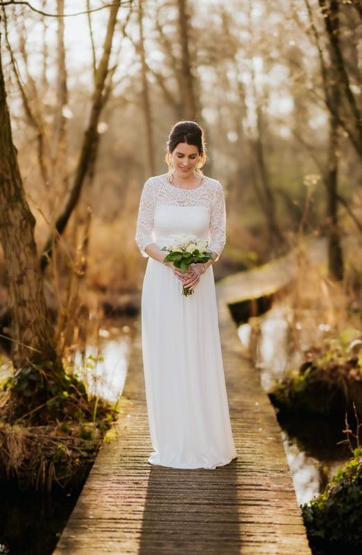 trouwen in de herfst trouwjurk