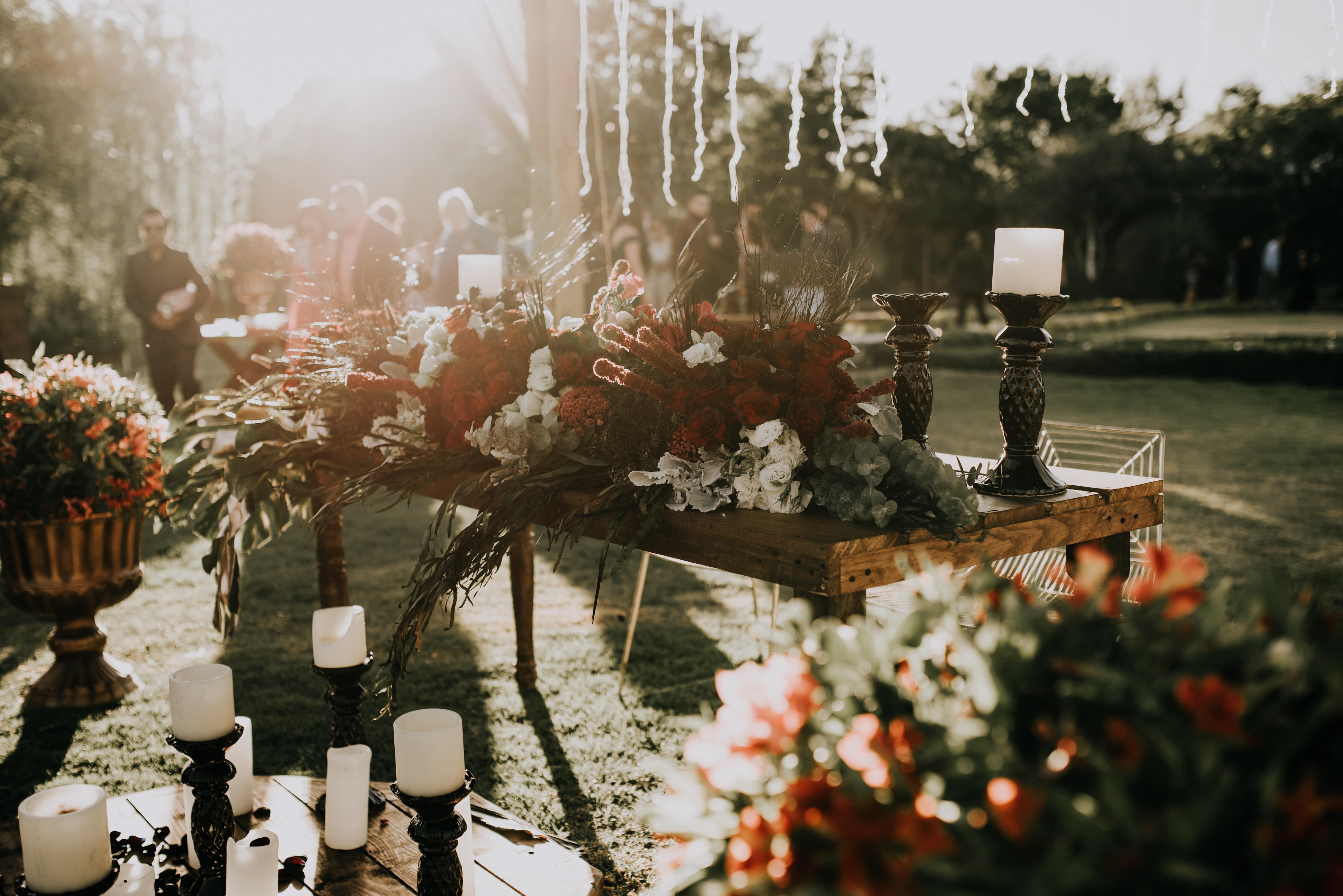 Herfst decoratie bruiloft