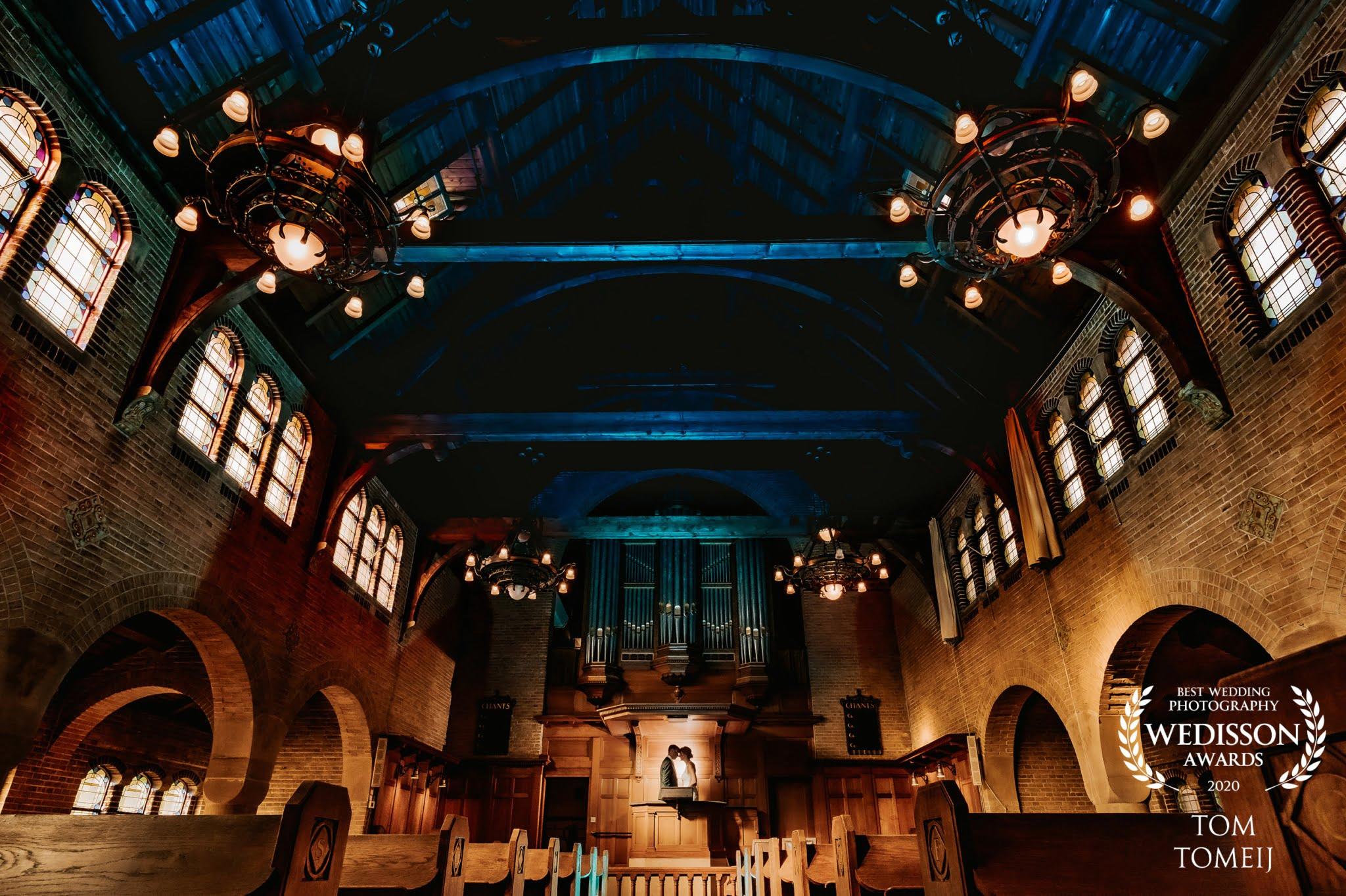 Trouwfotograaf trouwlocatie Waalse kerk Rotterdam
